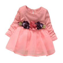 Summer Girls Dress Long Sleeve Party Flower Princess Robe Fille Enfant