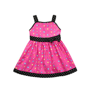 Toddler Infant Kids Baby Girl Clothes Heart Dot Princess Party Dresses Outfits