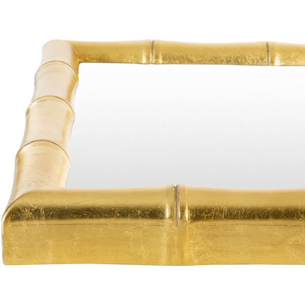 Bali Rectangular Gold Bamboo Accent Mirror-Coastline Mirrors