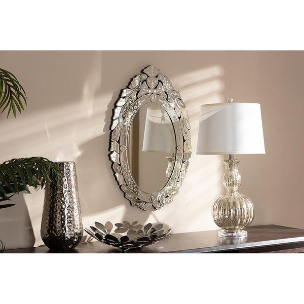 Classic Traditional Silver Finished Venetian Style Accent Wall Mirror-Coastline Mirrors