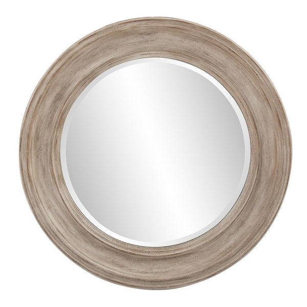 Daisy Rustic Taupe Finish Round Wall Mirror-Coastline Mirrors