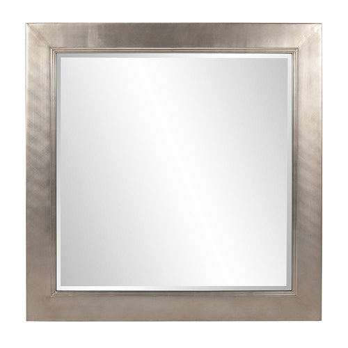Eva Brushed Silver Square Accent Mirror-Coastline Mirrors