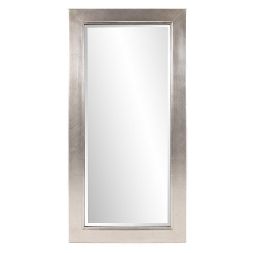 Eve Brushed Silver Rectangular Extra Large Floor Mirror-Coastline Mirrors