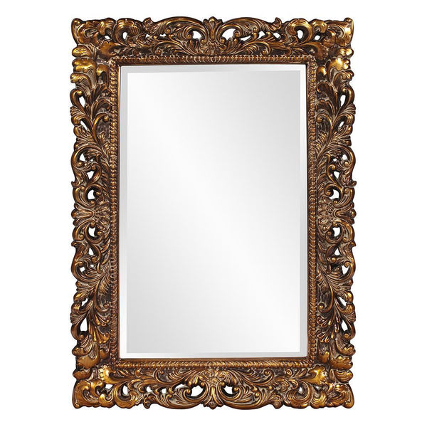 Gabriella Ornate Antique Gold Rectangular Wall Mirror-Coastline Mirrors