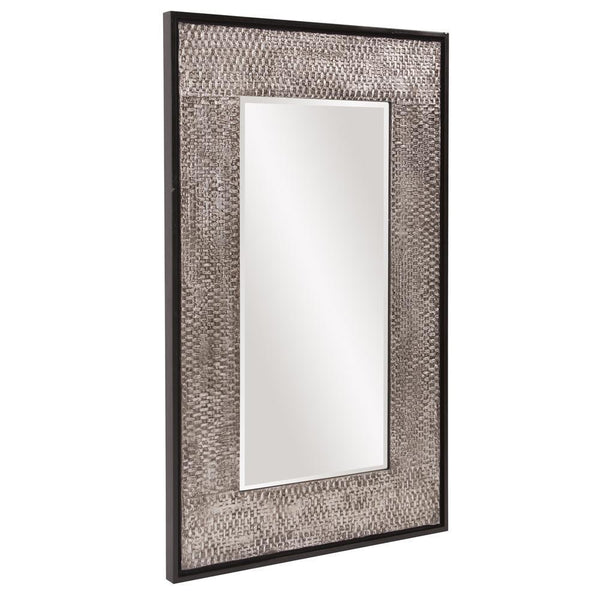 Harper Rectangular Weathered Finished Silver Mirror-Coastline Mirrors