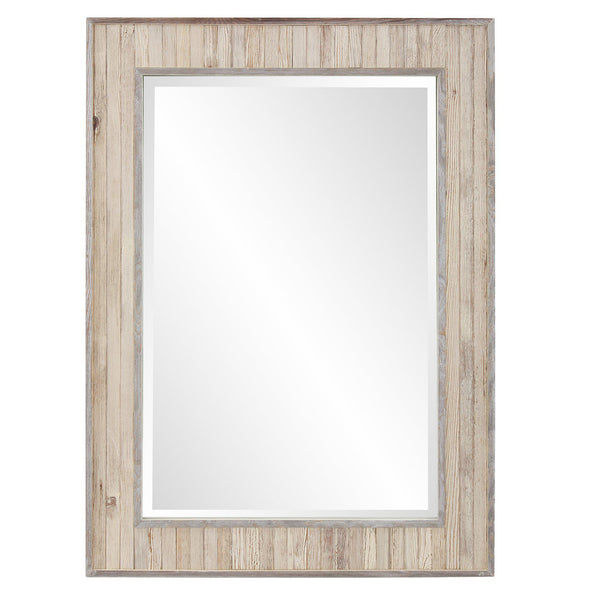 Lauralai Light Rustic Wood Rectangular Mirror-Coastline Mirrors