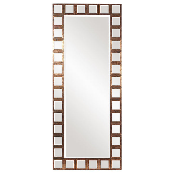 Louisa Oversized Rectangular Copper Trim Mirror-Coastline Mirrors