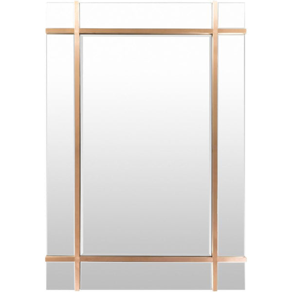 Minimalist Rectangular Gold Finished Window Mirror-Coastline Mirrors