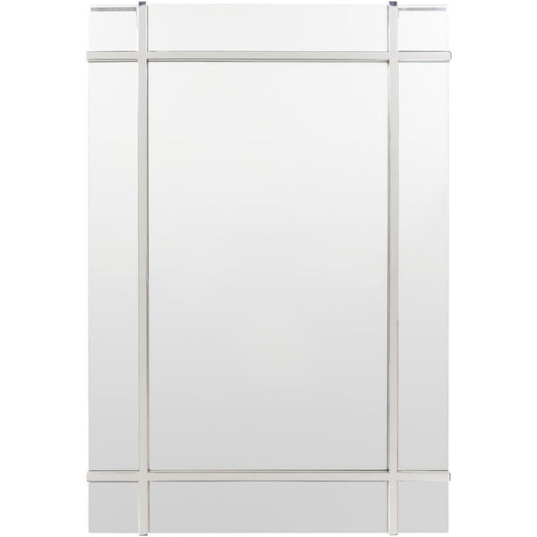 Minimalist Rectangular Silver Finished Window Mirror-Coastline Mirrors