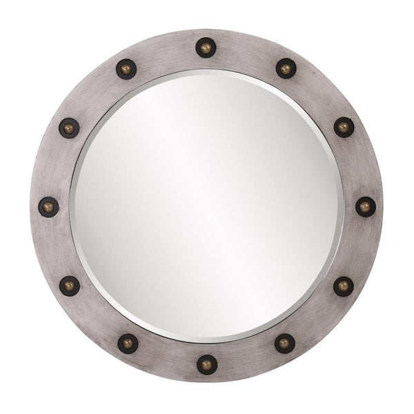 Sailor Silver Round Bronze Embellished Mirror-Coastline Mirrors