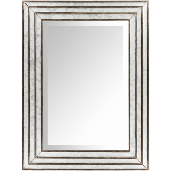 Vintage Gatsby Bronze Finish Rectangular Mirror-Coastline Mirrors