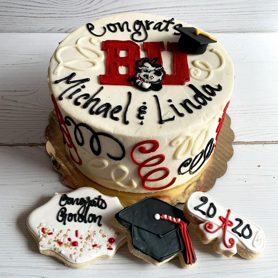 Boston University (BU) Graduation Cake