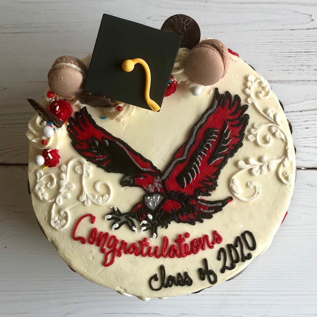 Graduation Logo Cake with Hudson Hawk (Hudson High)