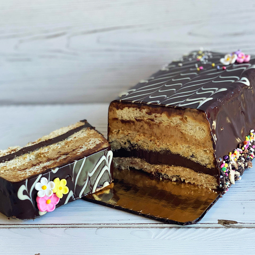 Gluten Free Espresso Chocolate Almond Terrine