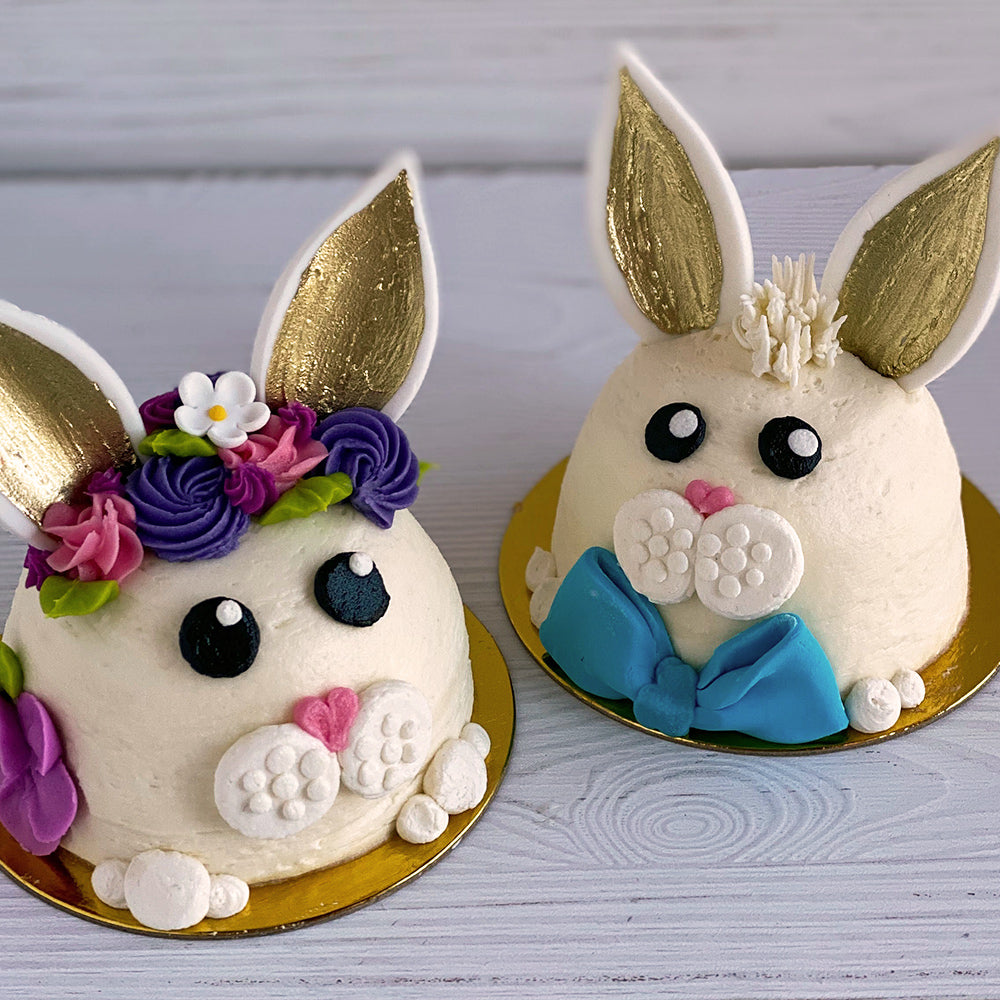 Easter Bunny Mini Character Cakes