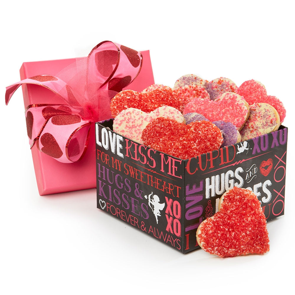 Hugs and Kisses Heart Cookies