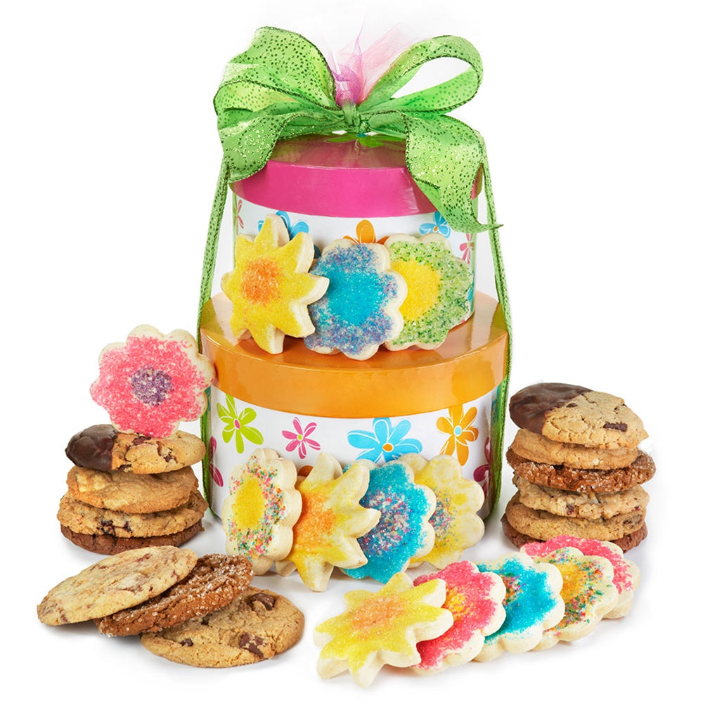 Flower Power Cookie Tower