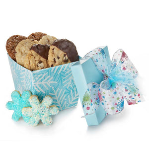 Blue Snowflakes Cookie Box