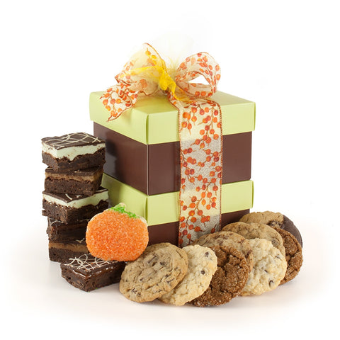 Autumn Cookie and Brownie Stack