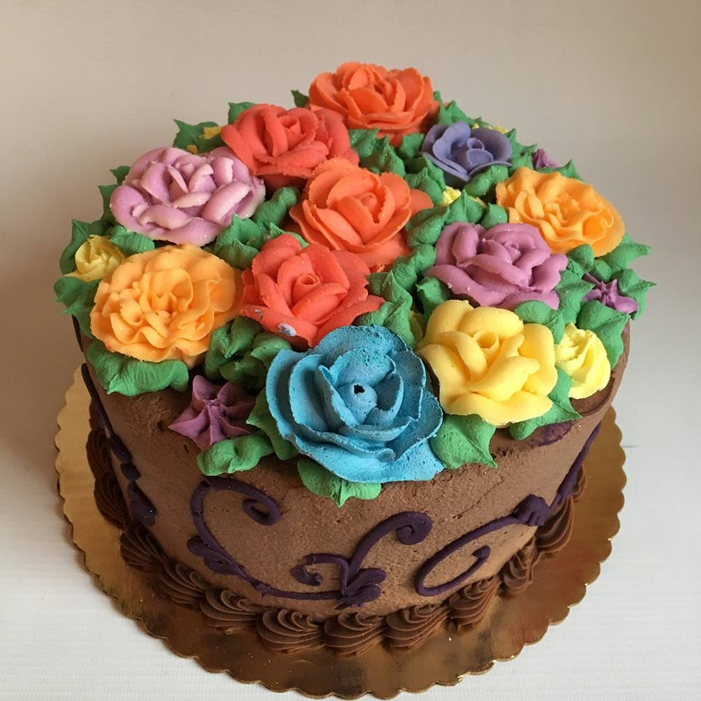 Chocolate Flowers Cake