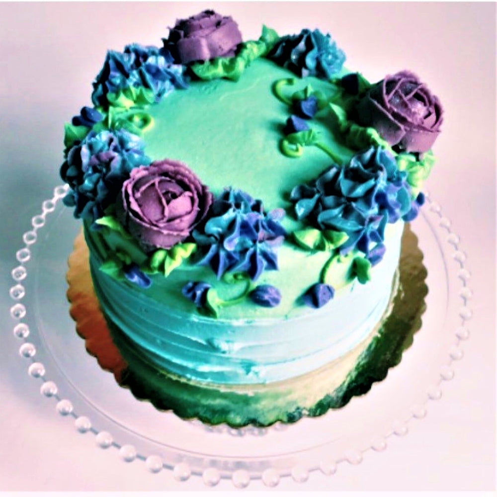 Roses and Hydrangeas Cake