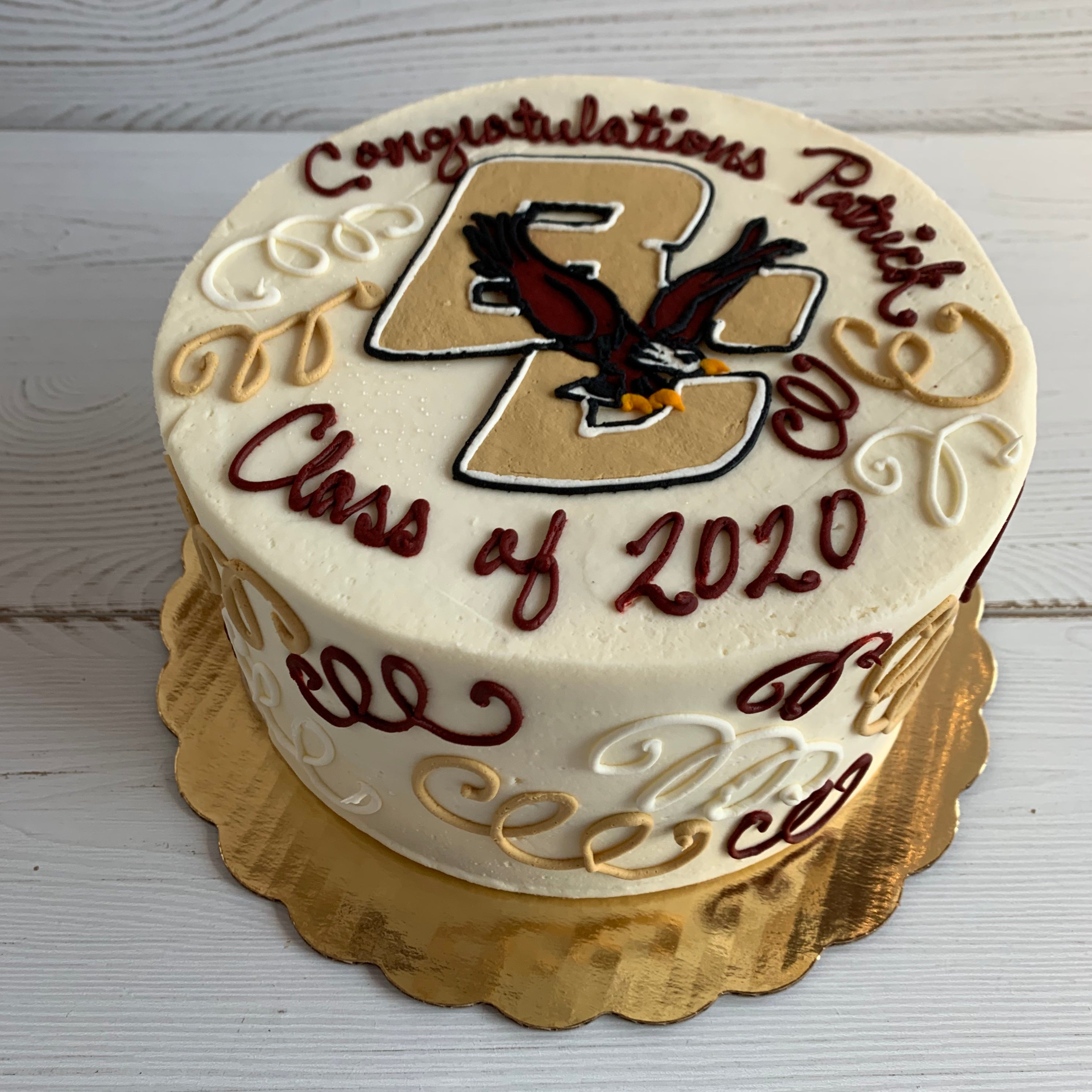 Boston College (BC) Graduation Cake