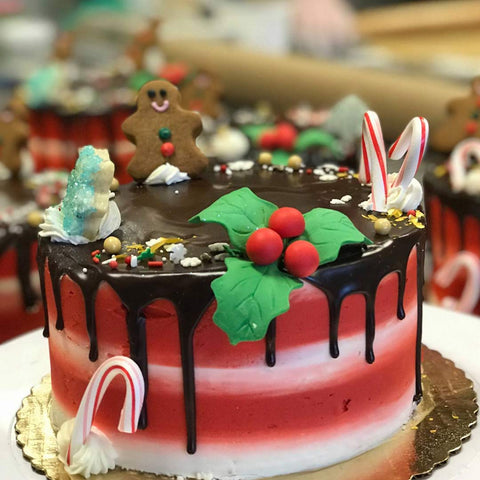 Christmas-Themed Cake