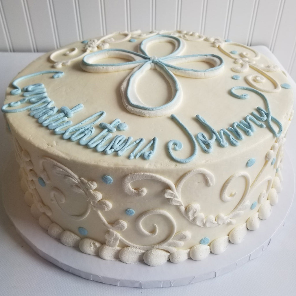 Cross with Scrolls Cake