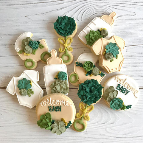 Welcome Baby Succulent Cookie Set