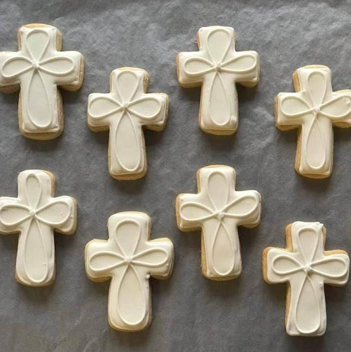 Religious Cross Sugar Cookies