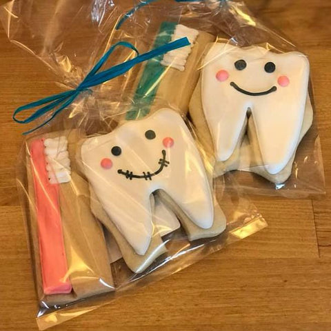 Dentist Tooth and Toothbrush Sugar Cookies