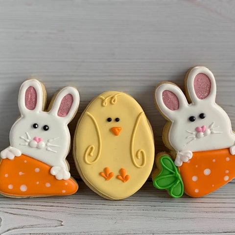 Easter Bunny and Chick Sugar Cookies