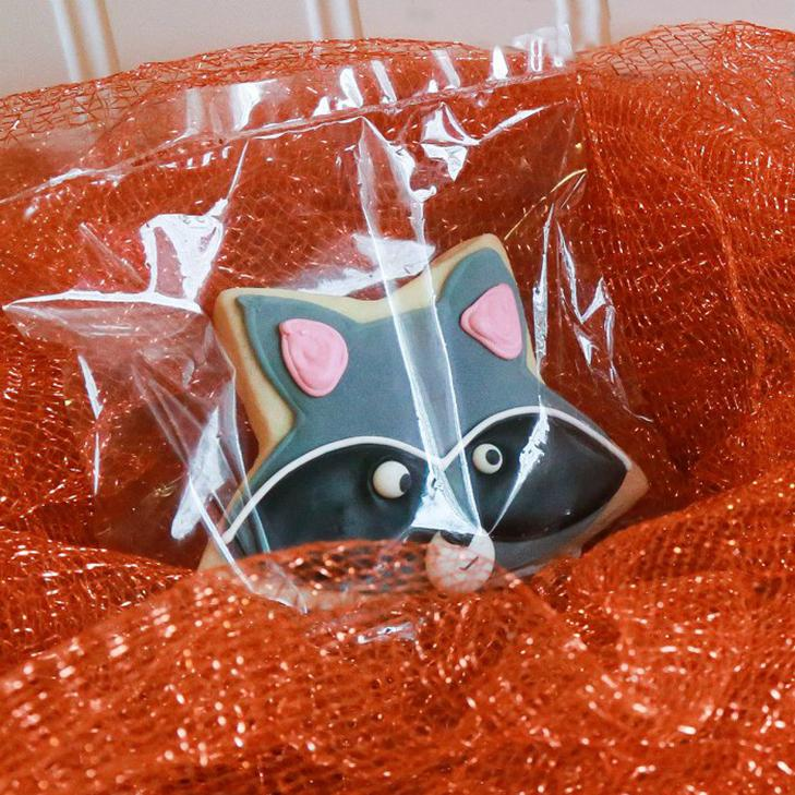 Raccoon and Fox Sugar Cookies