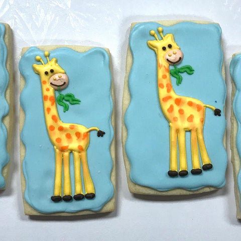 Cute Giraffes Sugar Cookies
