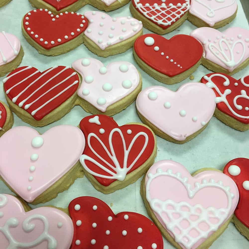 Double Heart Sugar Cookies