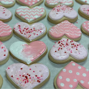 Pretty in Pink Hearts Sugar Cookies