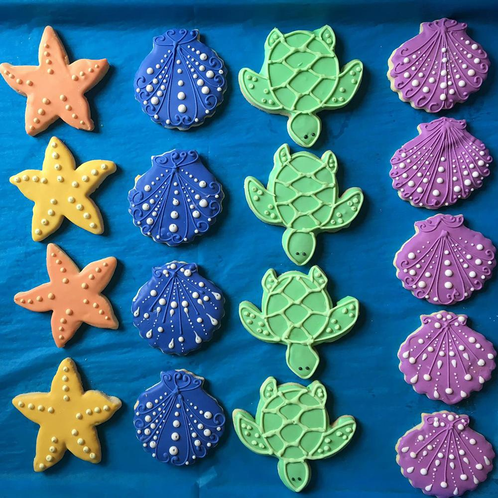 Sea Creatures Sugar Cookies