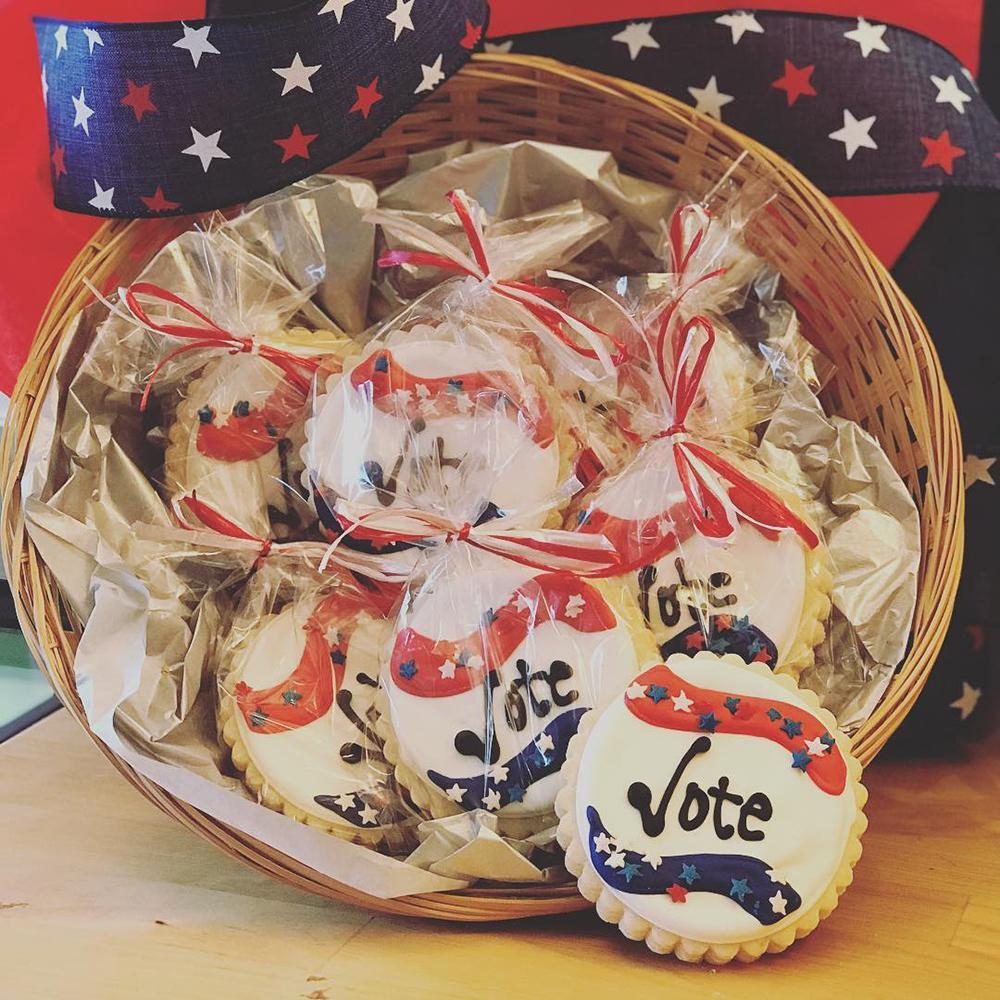 Get Out and Vote Sugar Cookies