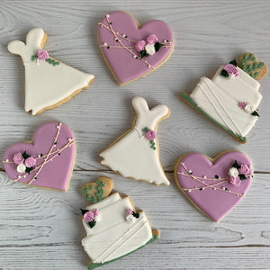 Wedding Dress, Wedding Cake & Heart Sugar Cookie Sets