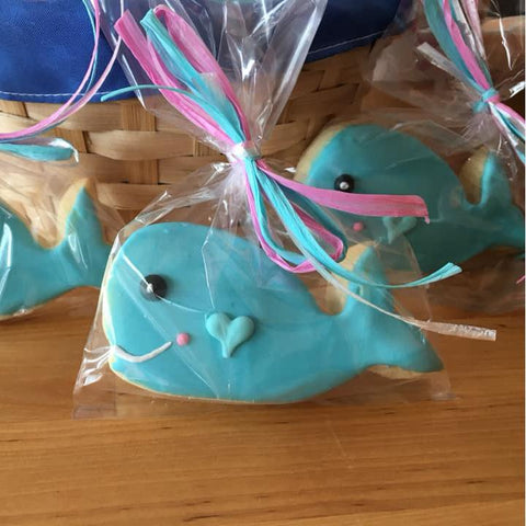 Cute Whales Sugar Cookies