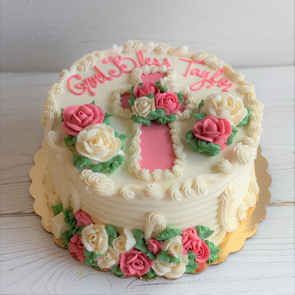 Floral Cross Cake