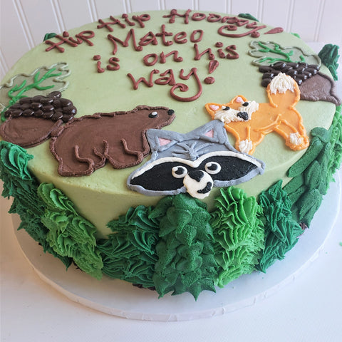 Forest Animals Cake
