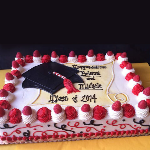 Grad Cap and Raspberries