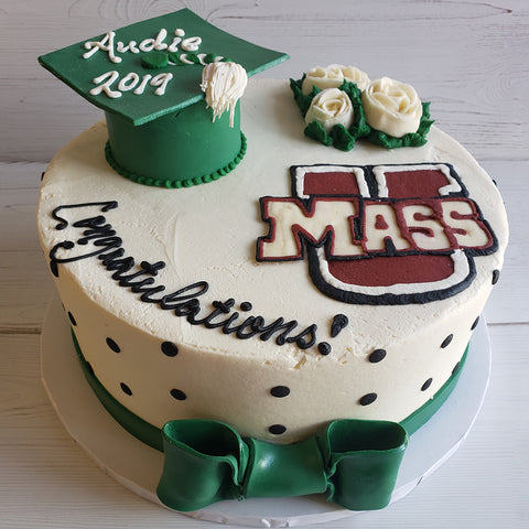 Graduation Cap Polka Dots (UMASS)