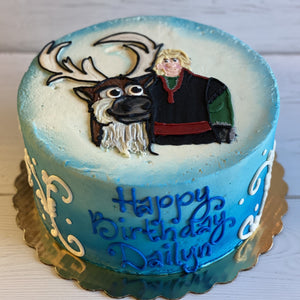 Sven and Kristoff Frozen Cake