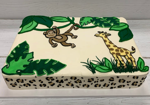 Giraffe and Monkey Cake