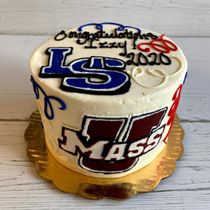 Graduation Logos Cake (Lincoln Sudbury and UMASS)
