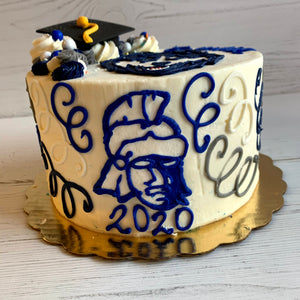 Bromfield High School Graduation Cake (with ONE Logo Only)