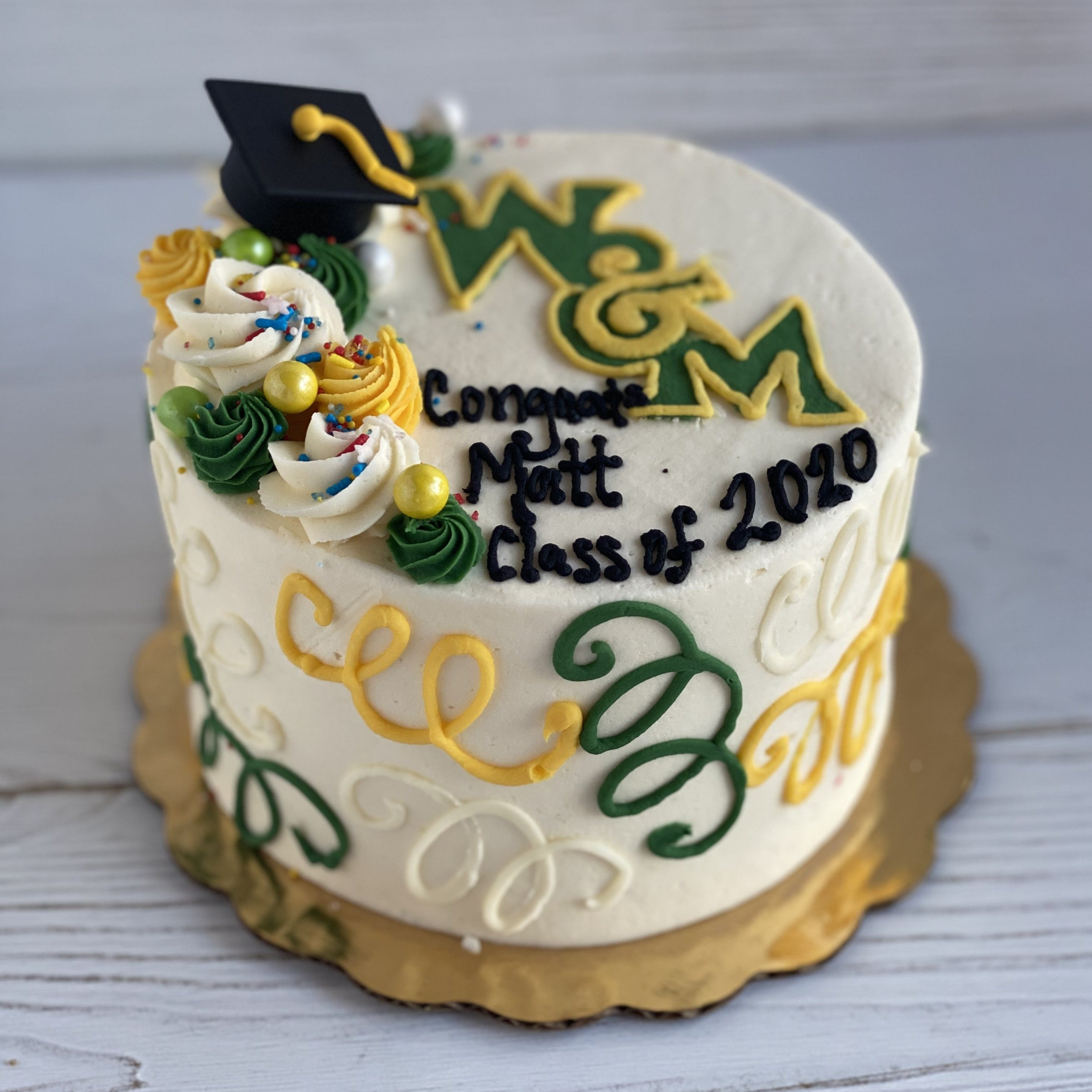 Graduation Logo Cake (William & Mary College)
