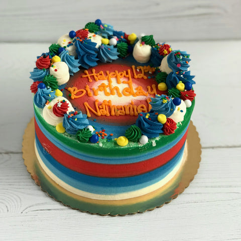 Festive Birthday Celebration Cake